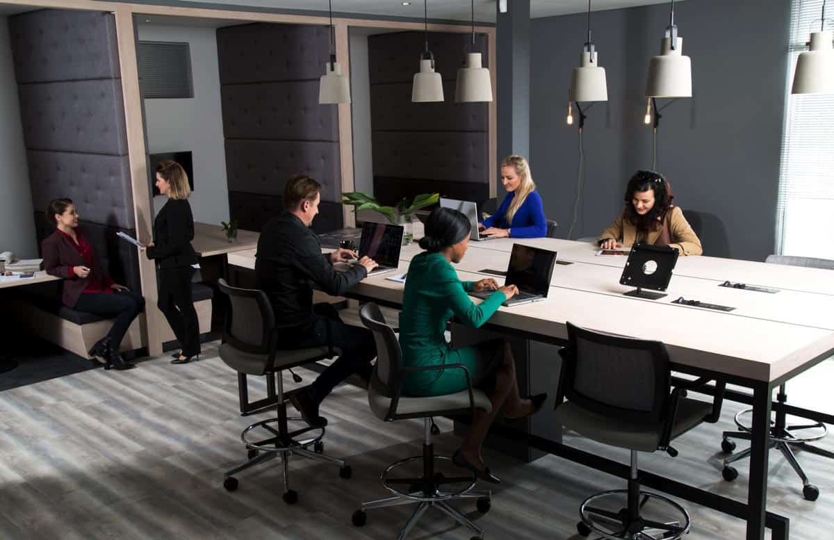 coworking at the workspace